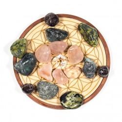 Love crystal grid