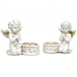 Angels with candle holders